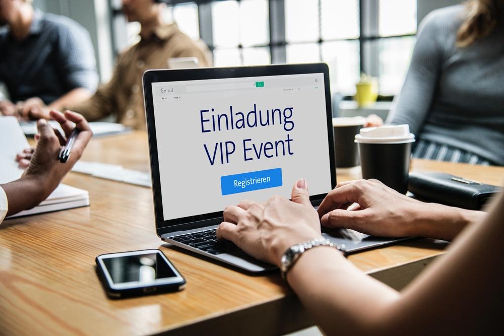 Einladungen zu Firmenevents